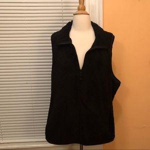 Black quilted fleece Vest